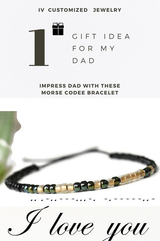 This Is Unique Bracelet With Secret Code I Love You Written With Morse Code Alphabet Check My Online Shop For In 2020 With Images Morse Code Bracelet Dad Bracelet Bracelets