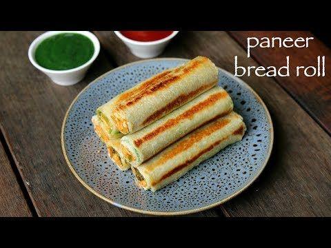 paneer bread roll recipe | bread paneer rolls | pa