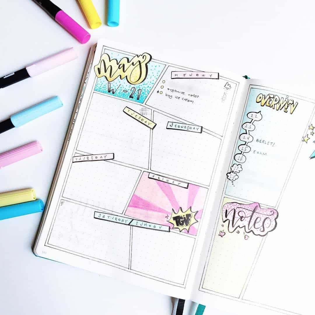 7 Comic Book Bullet Journal Weekly Spread Ideas You'll Want to Try!