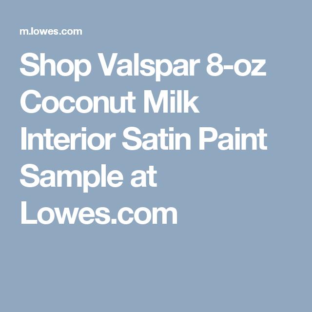 Shop Valspar 8 Oz Coconut Milk Interior Satin Paint Sample