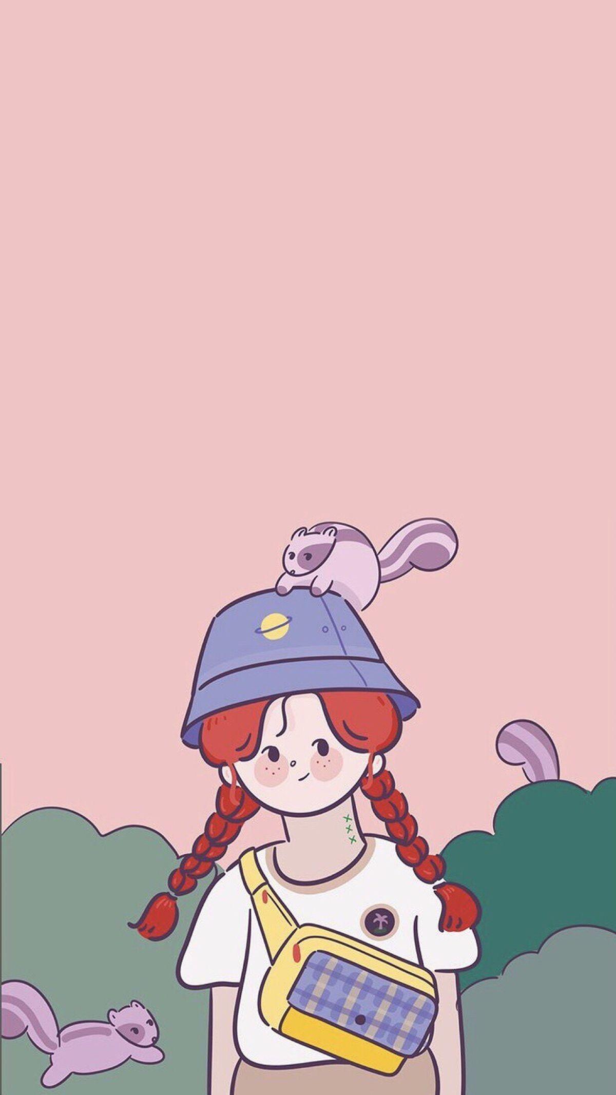 """Pin Oleh Aliza Kwon Di Ë°°ê²½í™""""ë©´ Ilustrasi Karakter Wallpaper Kartun Ilustrasi"""