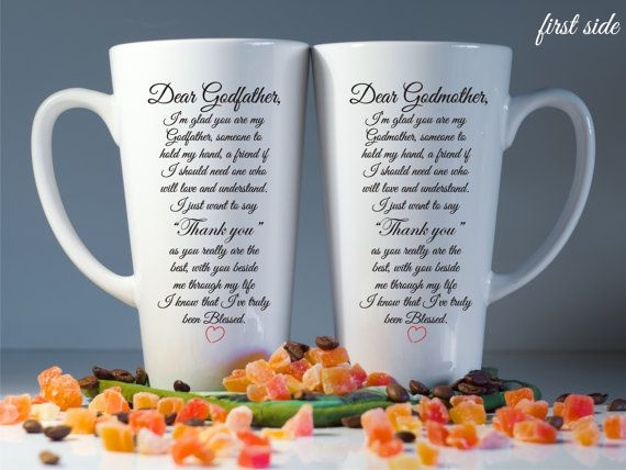Godparents Mugs, Godparents Gift, Godmother Gift