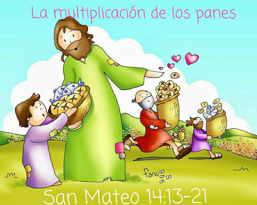 San Mateo 14:13-21 | Imágenes catolicas, Milagros de jesús, Dios ...