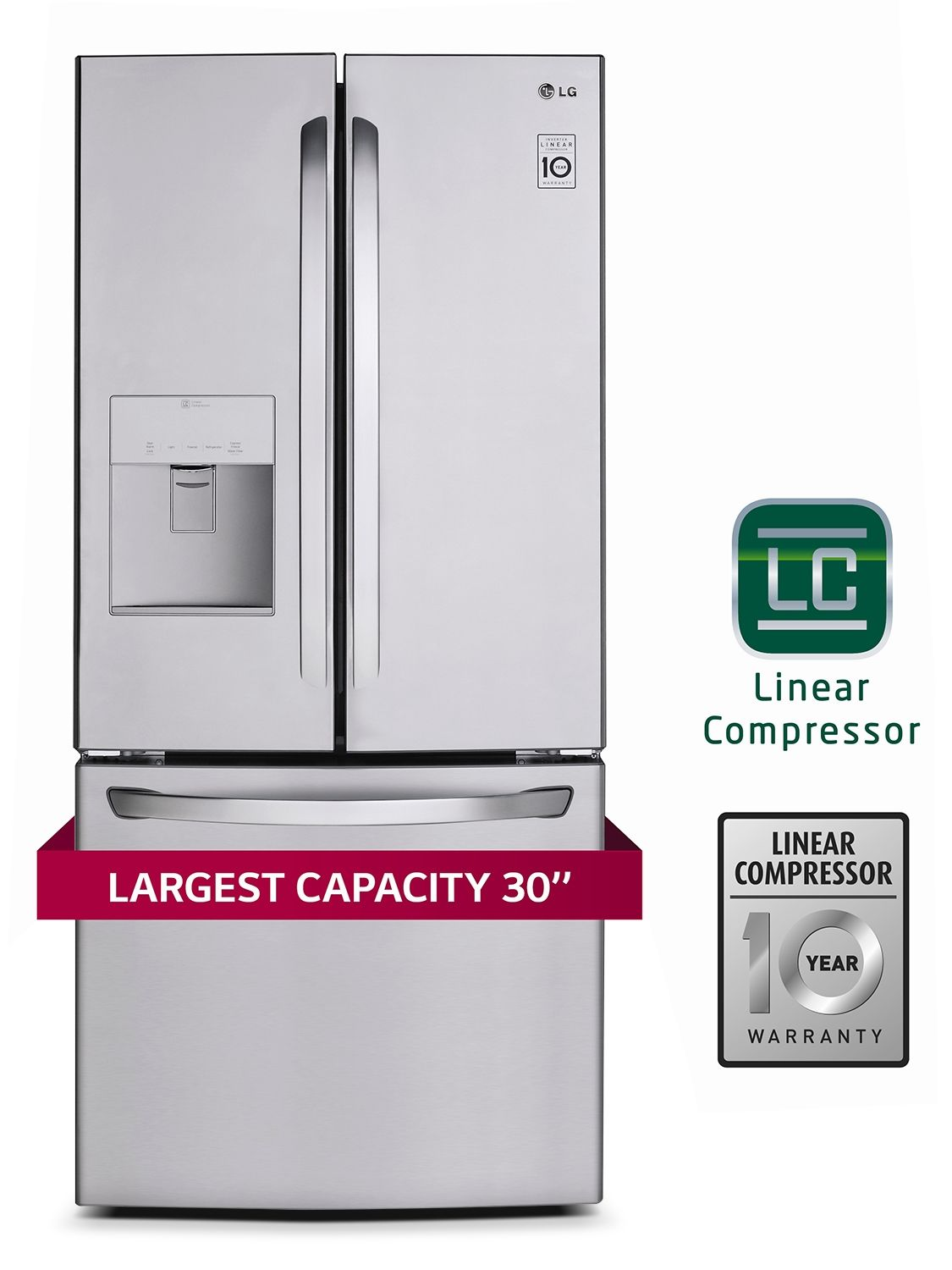 Lg Appliances Stainless Steel French Door Refrigerator 21 8 Cu Ft Lfd22786st French Doors Fridge French Door Stainless Steel French Door Refrigerator