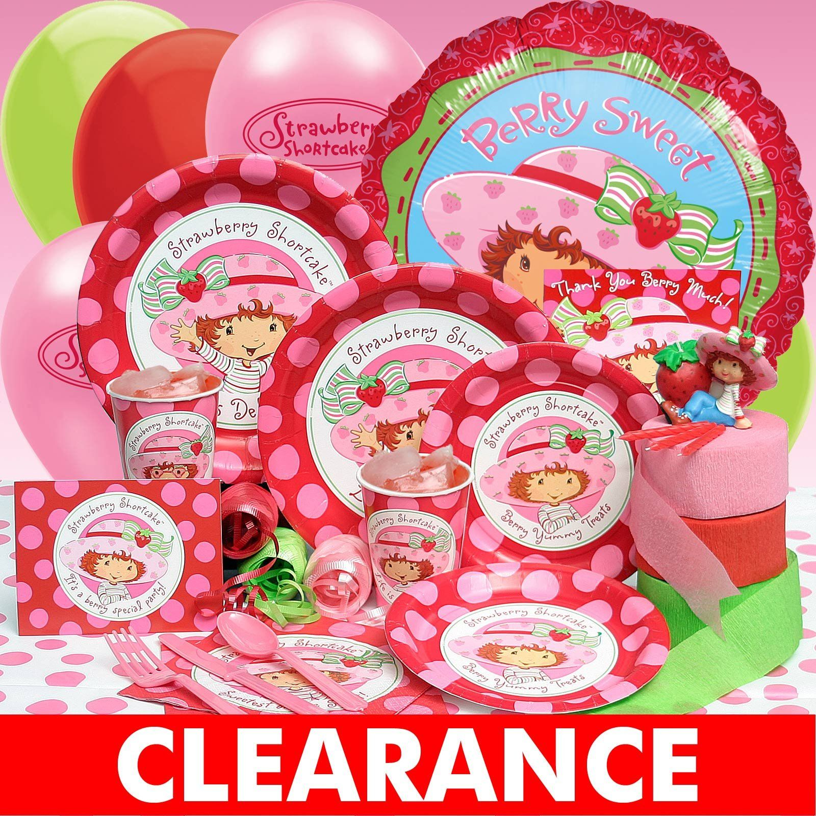 Vintage Strawberry Shortcake Party Decorations Strawberry