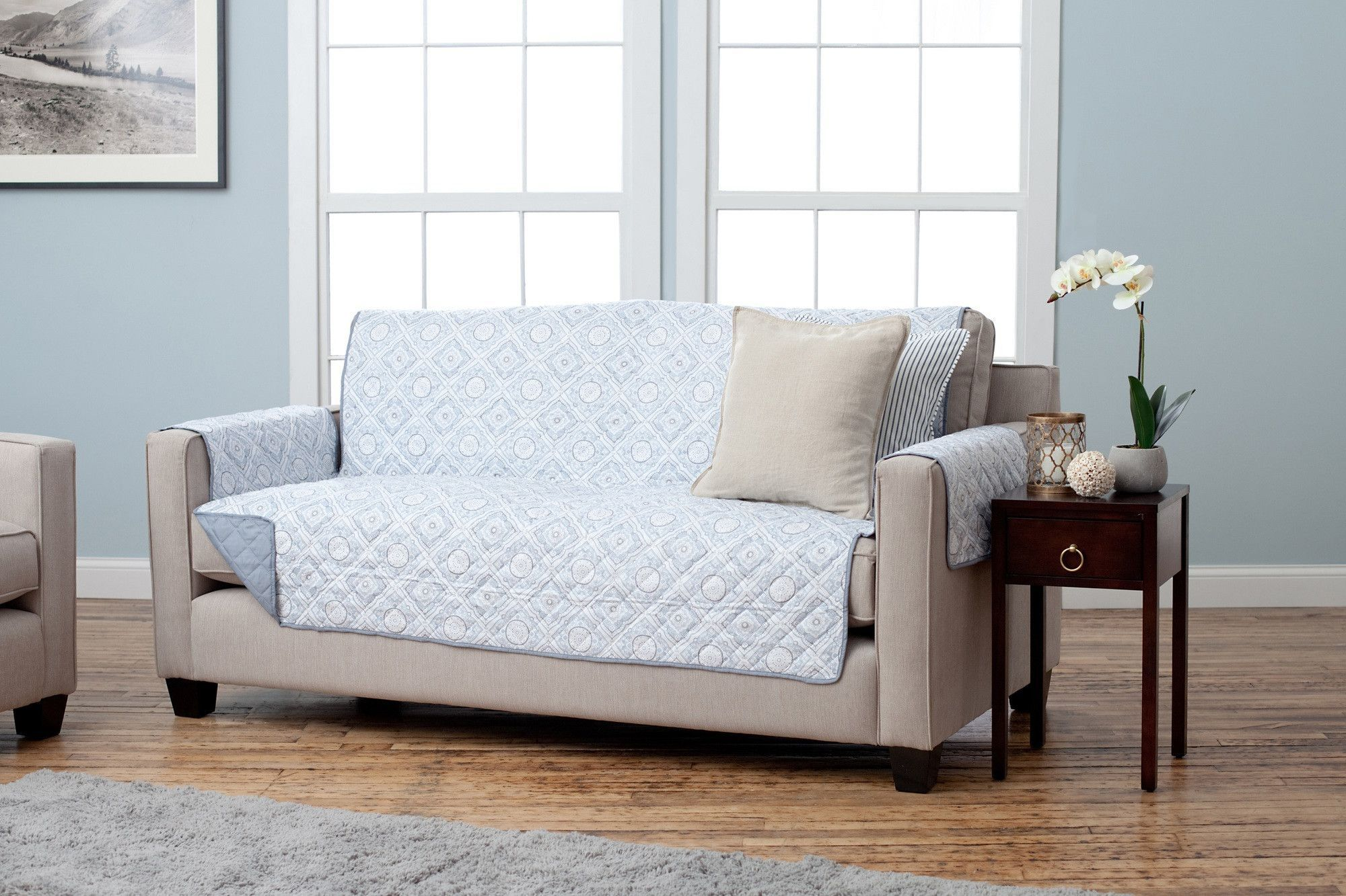 Adalyn Collection Printed Reversible Furniture Protector