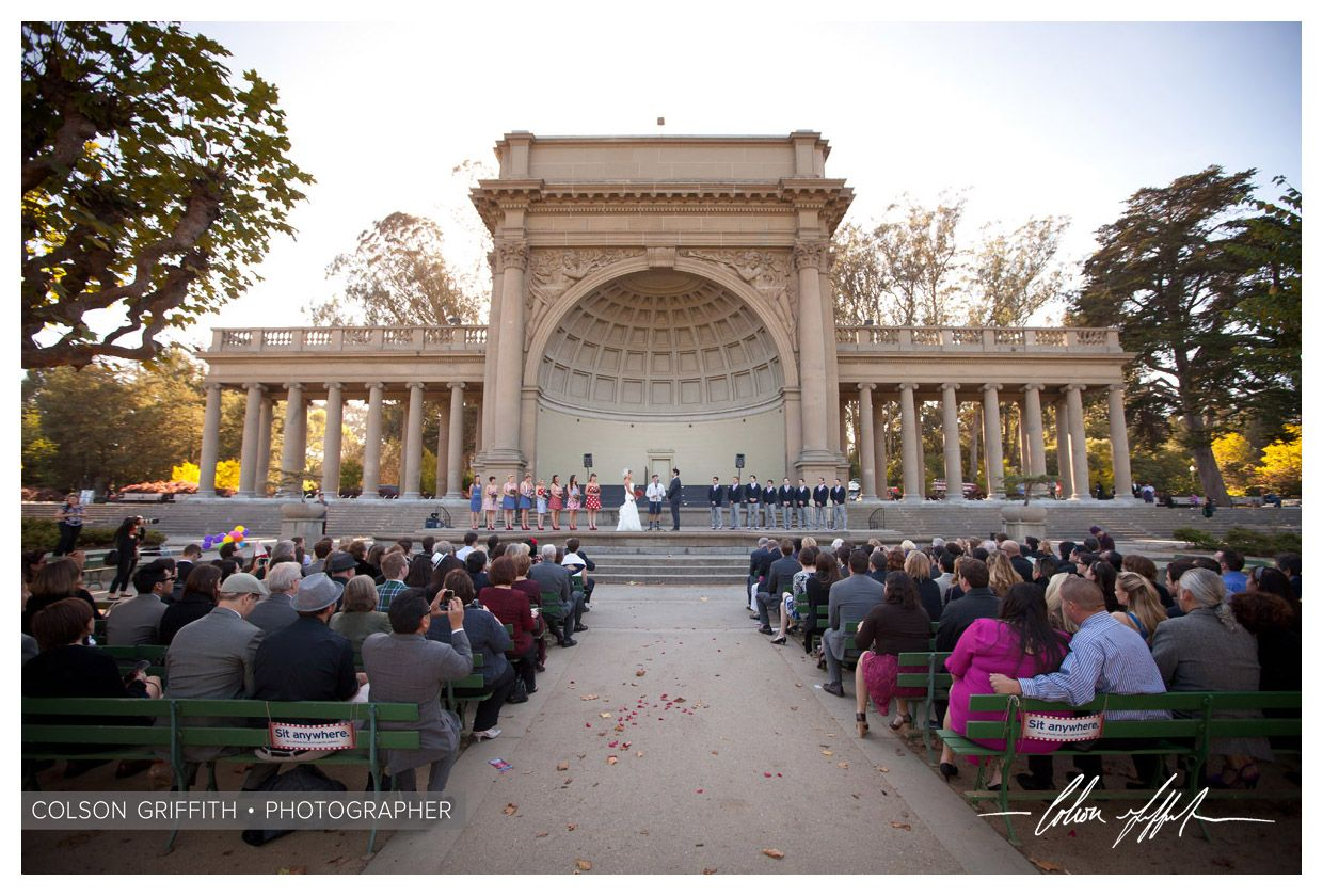 Wedding At The Music Concourse Golden Gate Park