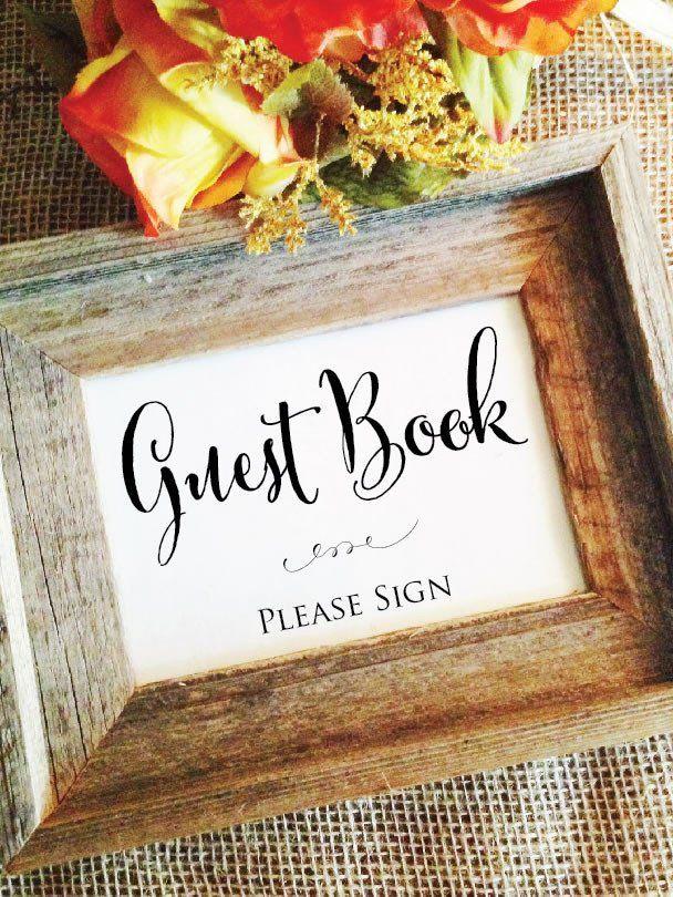 Guest Book Wedding Sign Stylish Signs Boda Fotografia Boda