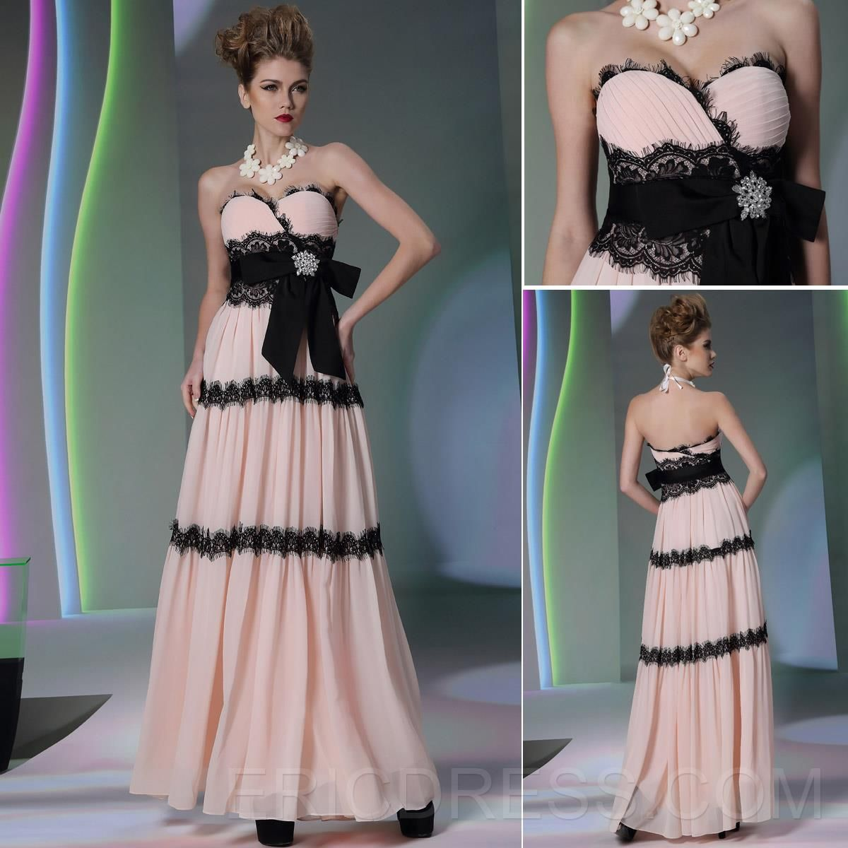 Faddish Sweetheart Sashes A-Line Evening Dress 7