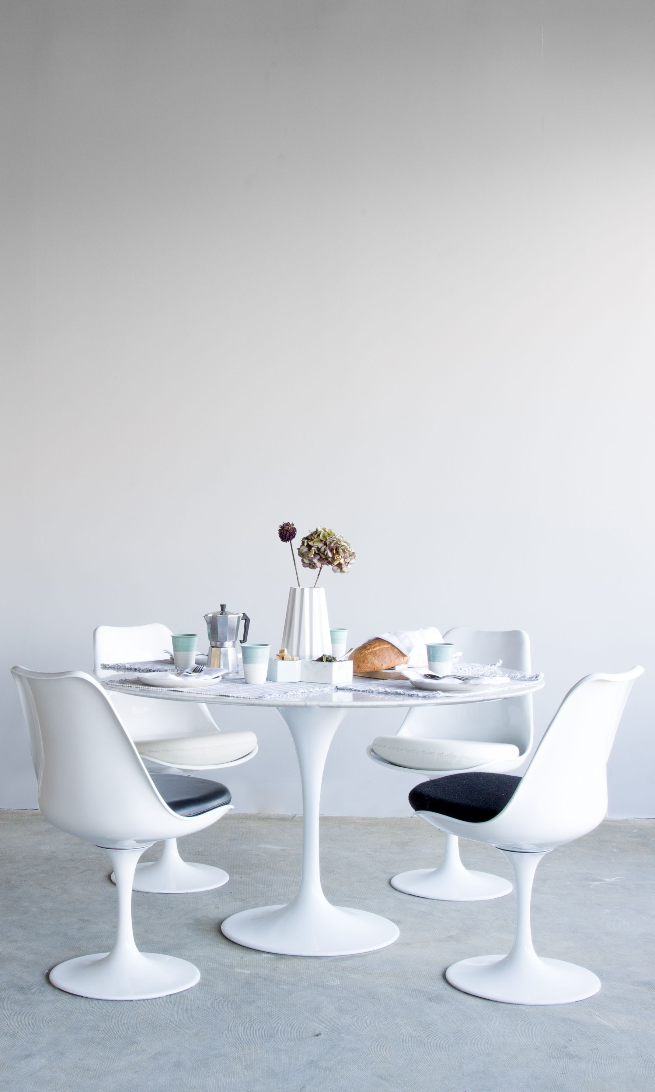Tulip Table Round Carrara Rove Concepts Rove Classics Mid Century Furniture Tulip Table Modern Dining Table Table