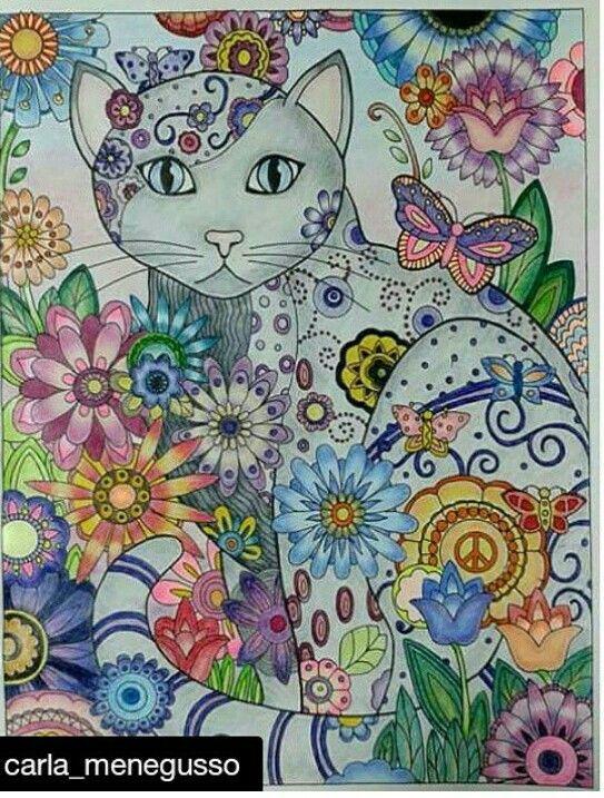 Pin de Joan Bosotina en Coloring other then mine   Pinterest   Gato ...