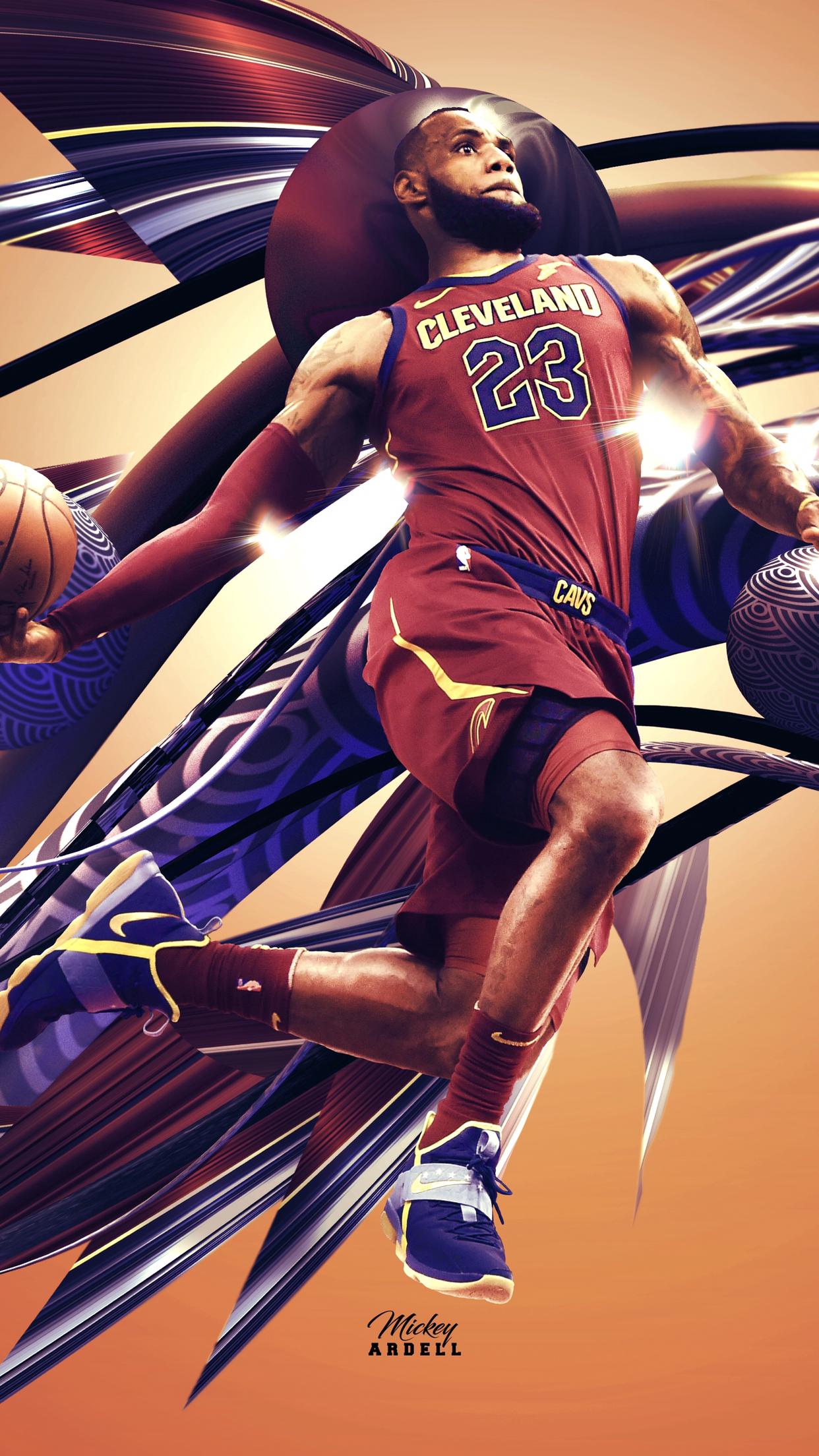Lebron Wallpaper NBA Art Wmcskills 1 Nba James King