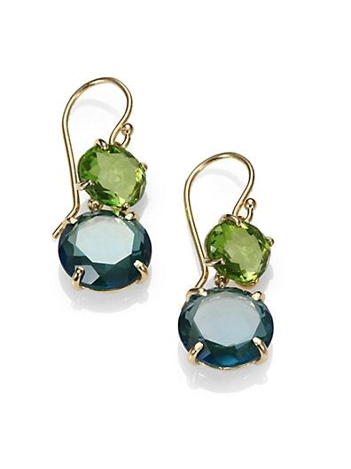 dcad10ccc16 Peridot, Green Gold Citrine and London Blue Topaz 18K Yellow Gold ...