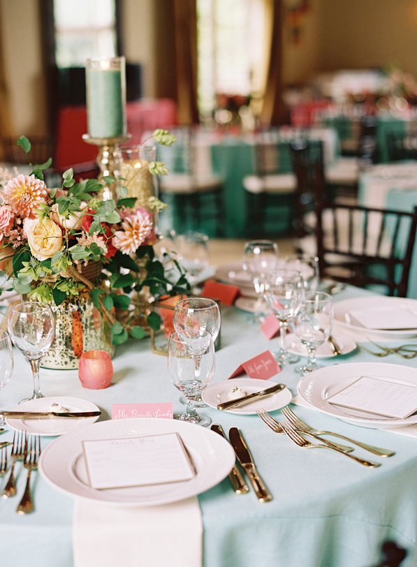Stately Southern Wedding Wedding table settings Table