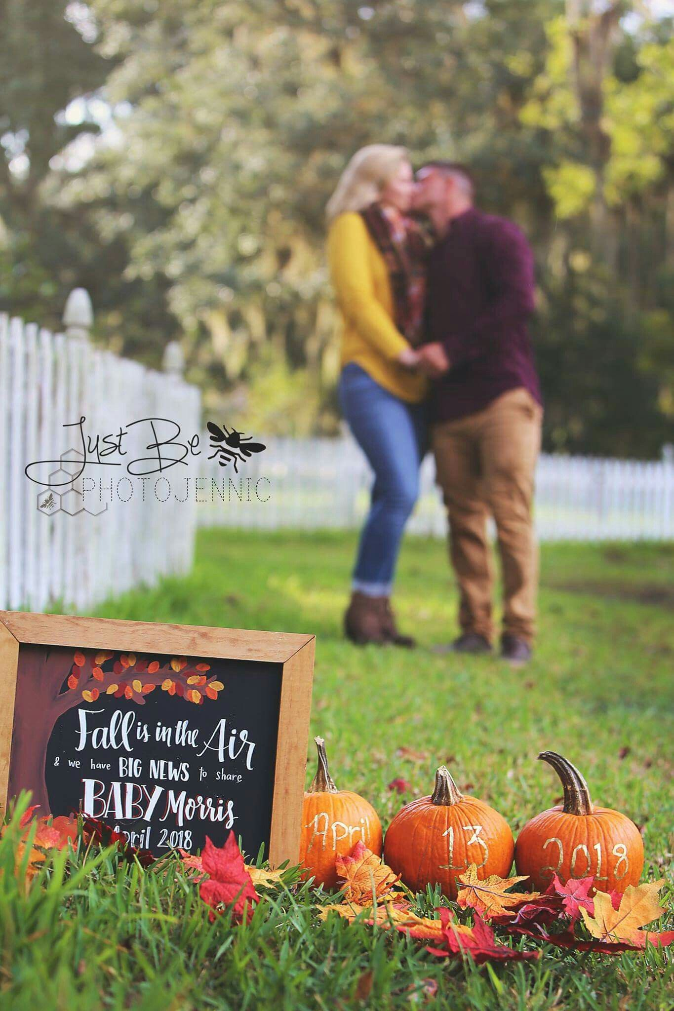 Pregnancy announcement baby coming soon fall pregnancy – Fall Birth Announcements