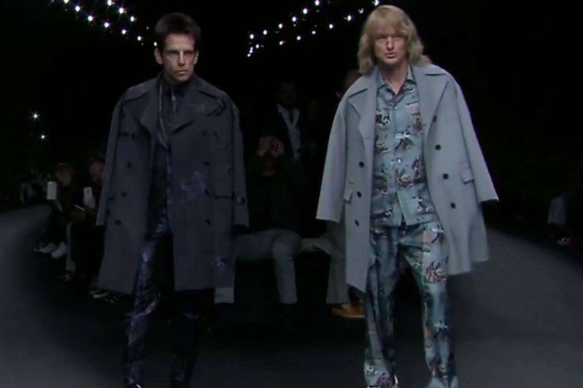 Great PR for an upcoming movie! Derek Zoolander and Hansel Hit Valentino Runway at Paris Fashion Week - Video - Creativity Online