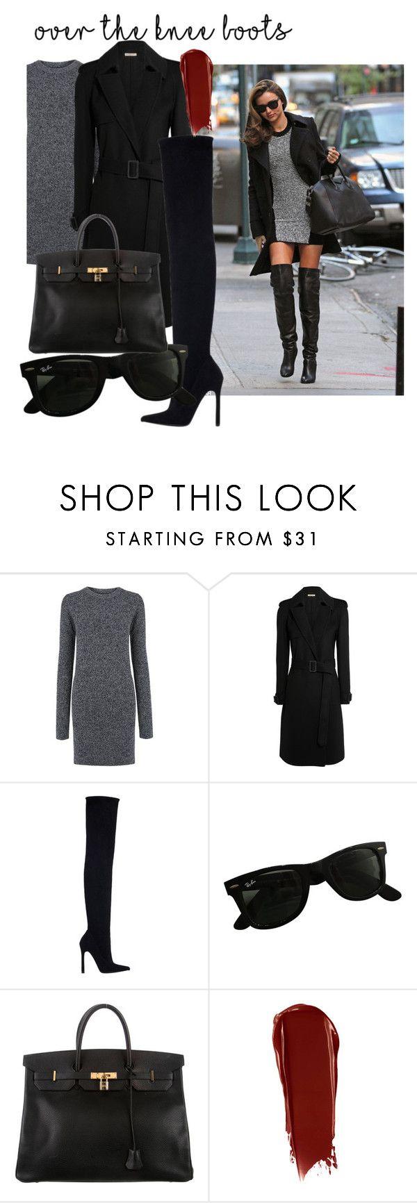 """Untitled #147"" by missbonnybee ❤ liked on Polyvore featuring Kerr®, Current/Elliott, Bottega Veneta, Zara, Ray-Ban, Hermès and NARS Cosmetics"