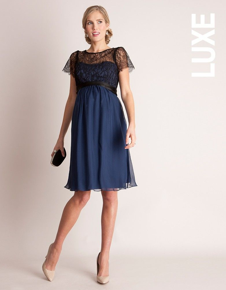 Silk & Lace Special Occasion Maternity Dress | Maternity dresses ...