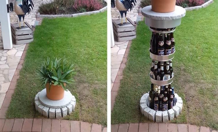 bier rohr garten bauanleitung