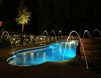 Pool fountain jets lights choosing the right set of pool - Swimming pool fountains and lights ...