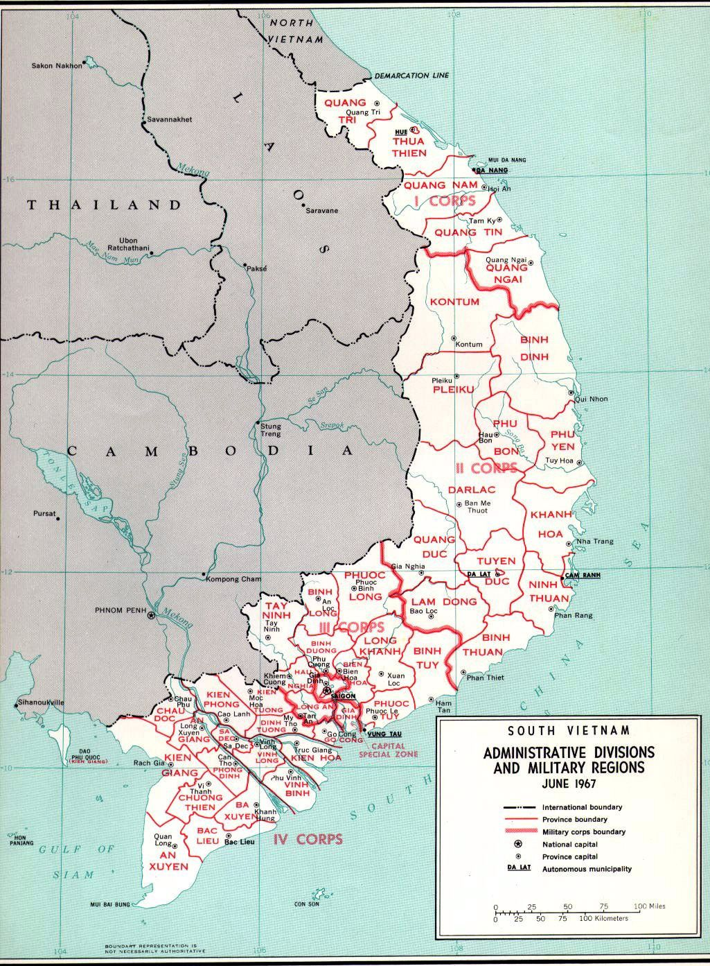 South Vietnam Province Map Sa Dec Is Located In Iv Corps Vietnam