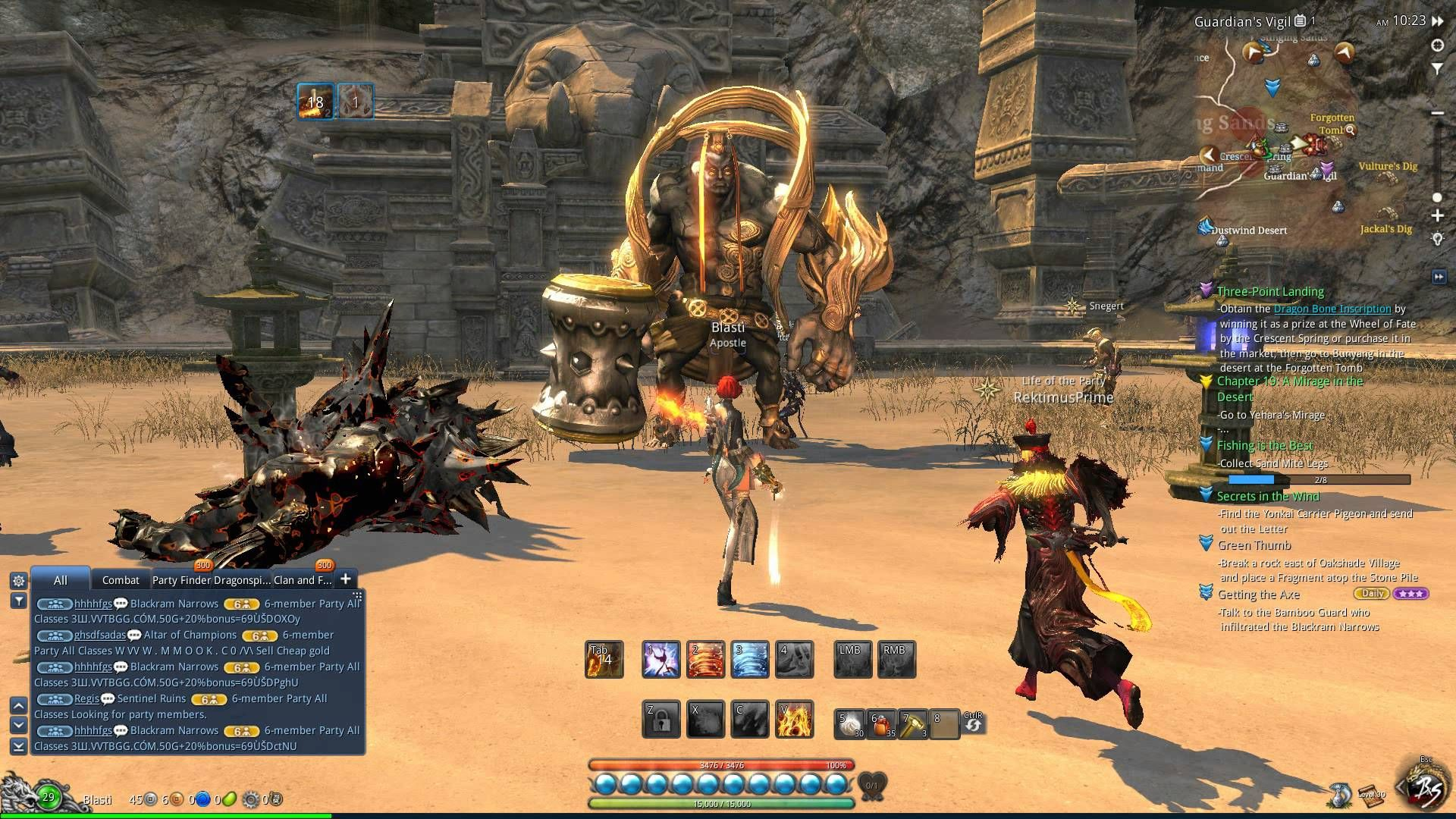 run shoes huge discount outlet Blade and Soul - Force Master Gameplay : Golden Deva World Boss