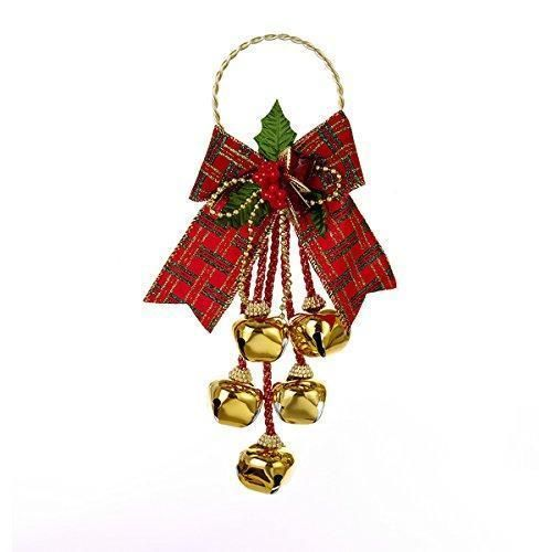 Bell Decoration Simple Christmas Jingle Bell Door Hanger With Bow Xmas Decoration Holiday Decorating Design