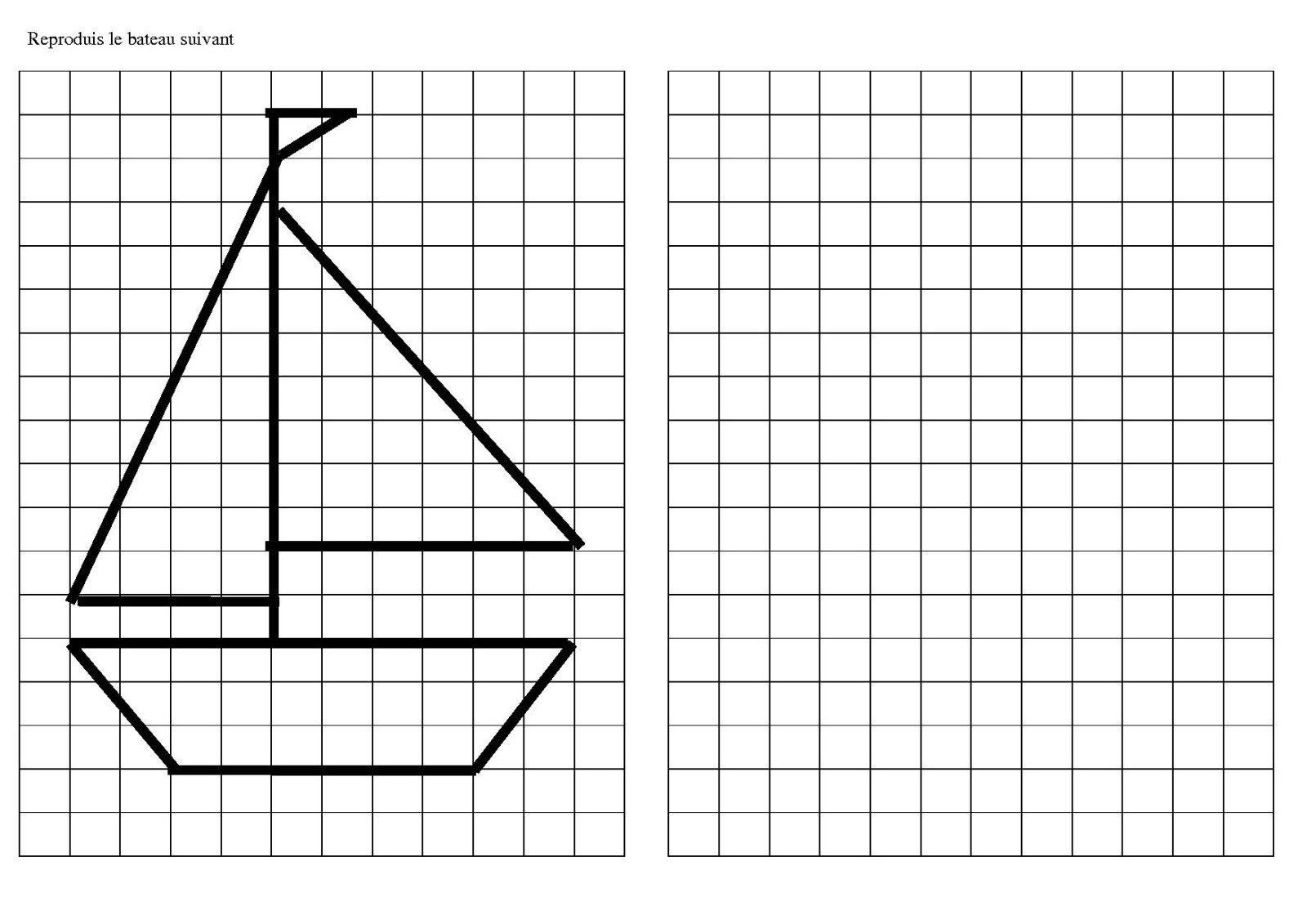 reproduire un dessin sur quadrillage cp - Recherche Google   étude p1   Pinterest