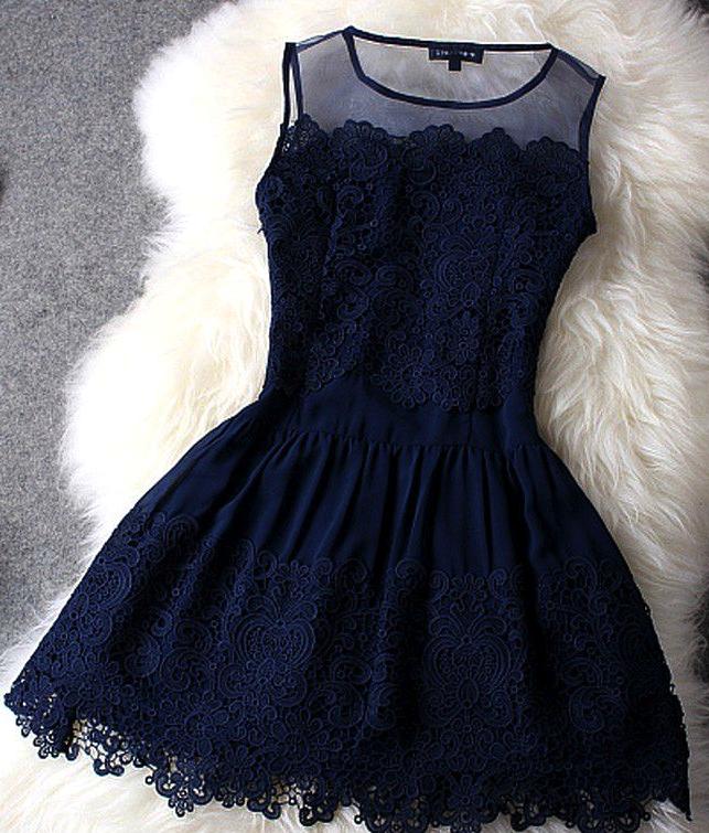 Blue lace dress   Kleider konfirmation, Kleider, Kleidung