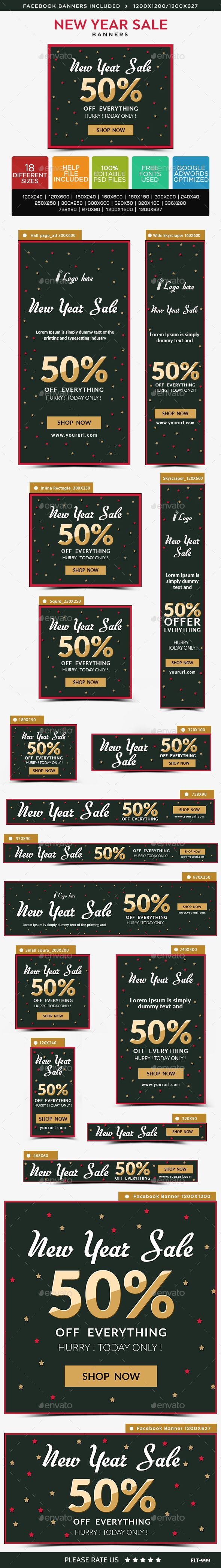 new year sale web banners template psd ad design download http