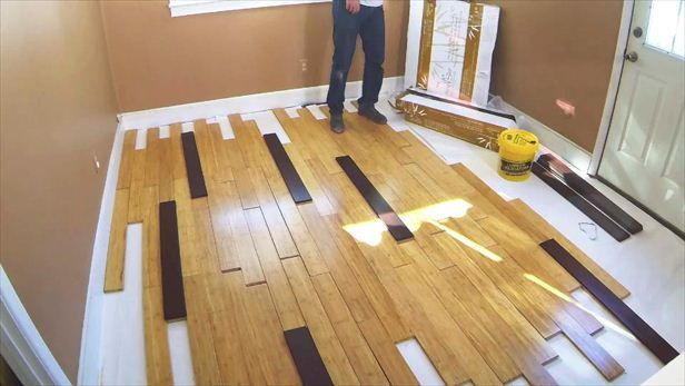 How To Install Two Tone Bamboo Flooring Installing Bamboo Flooring Bamboo Laminate Flooring Flooring