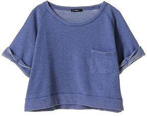 Denim color sweatshirt / ShopStyle: Murua デニムライクスウェット