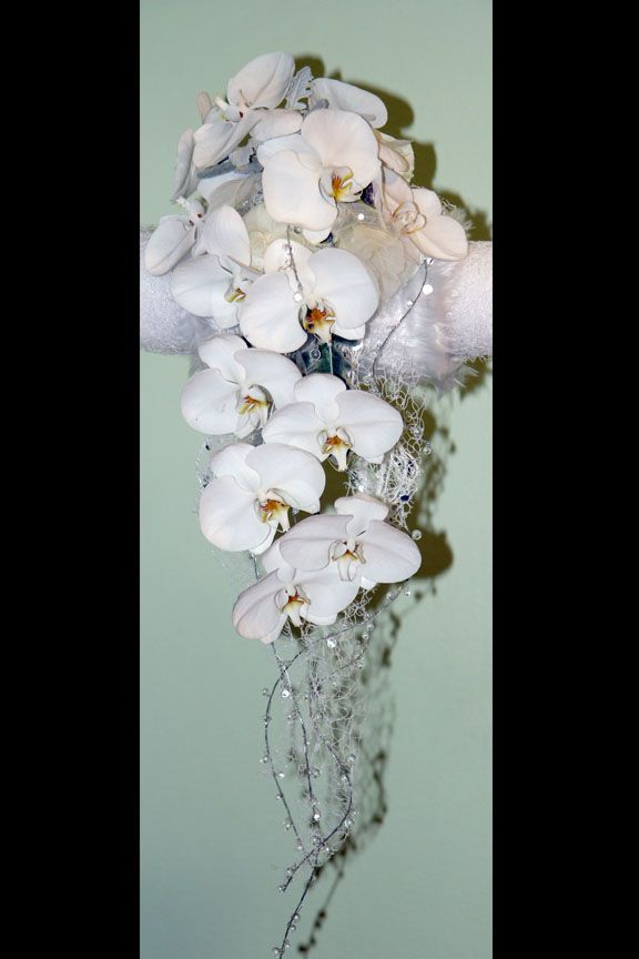 Muff Bouquet White Phalaenopsis Orchidsdney Wedding Flowers By