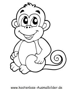 Ausmalbild Affenbaby In 2020 Affe Malen Ausmalbilder Affen Baby