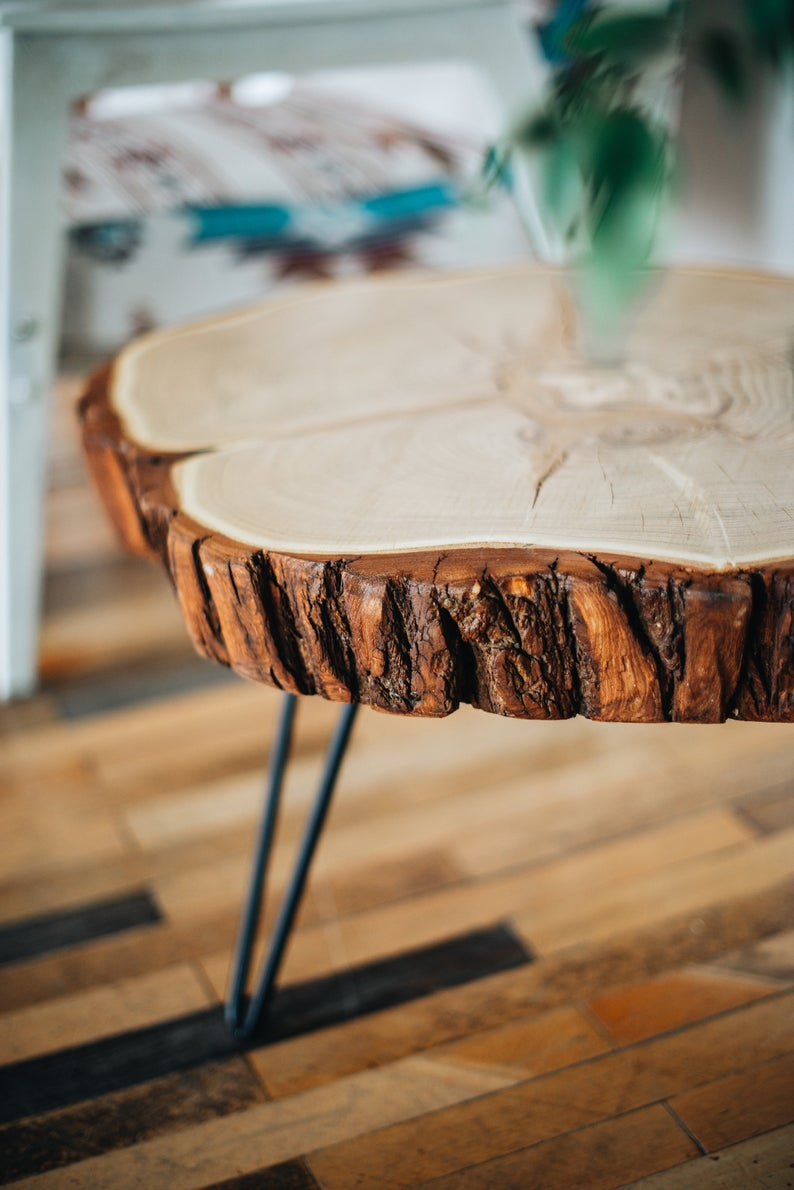 Coffee Table Live Edge Coffee Table Round Coffee Table Etsy Coffee Table Wood Live Edge Coffee Table Rustic Coffee Tables [ 1190 x 794 Pixel ]