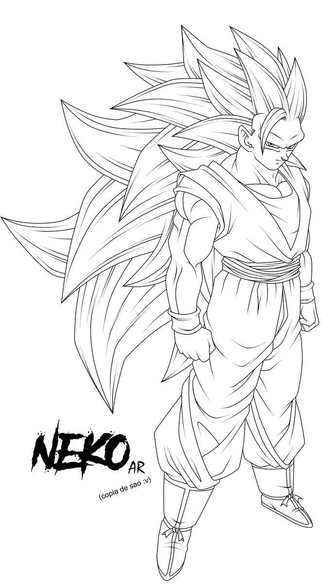 Super Saiyan Gohan #1 (Kaioshin Outfit) [Line-Art] by AubreiPrince on DeviantArt