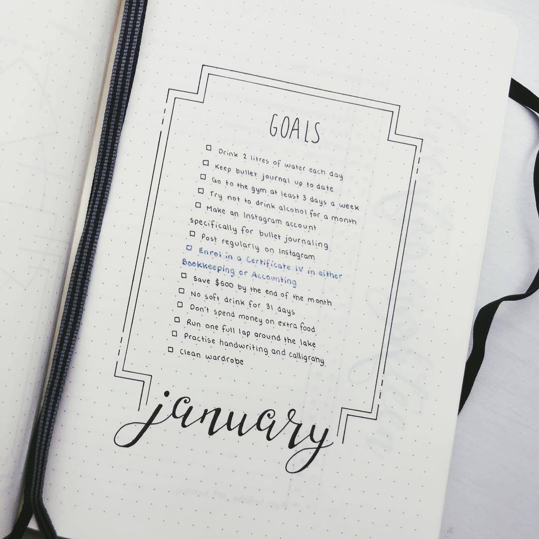 bullet journal monthly goals goal tracker goal setting bullet journal. Black Bedroom Furniture Sets. Home Design Ideas
