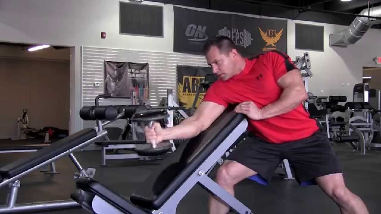 Spider Curls Incline Bench Part - 38: Grasp The Dumbbell Firmly And Place The Triceps Of Your Arm Parallel Down  The Center Of The Incline Bench.