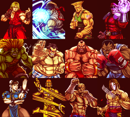 Street Fighter 2 Character Line Up Eddie Holly Ryu Street