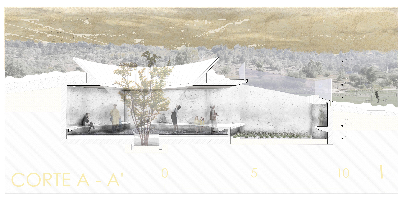 representación memorial de la virgen del parque  obra del arquitecto Gonzalo Mardones