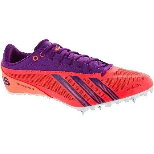 Adidas Sprintstar IV Womens Sprint Track Spike Size 7 Orange Purple #Adidas