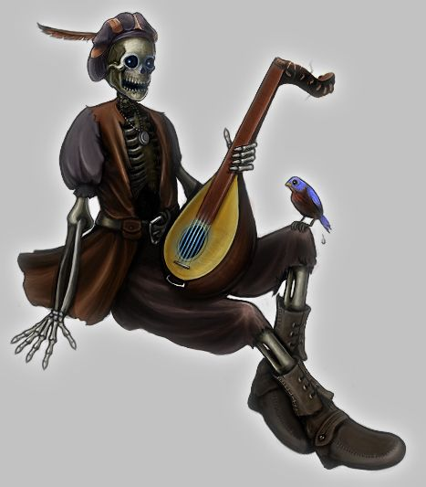 Skeleton Bard | D&D Character art | Dnd characters