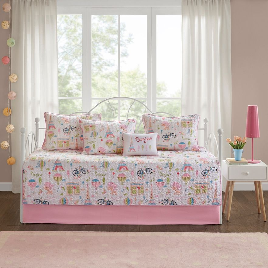 Mi Zone Kids Penelope The Poodle 6 Piece Daybed Set Daybed Sets