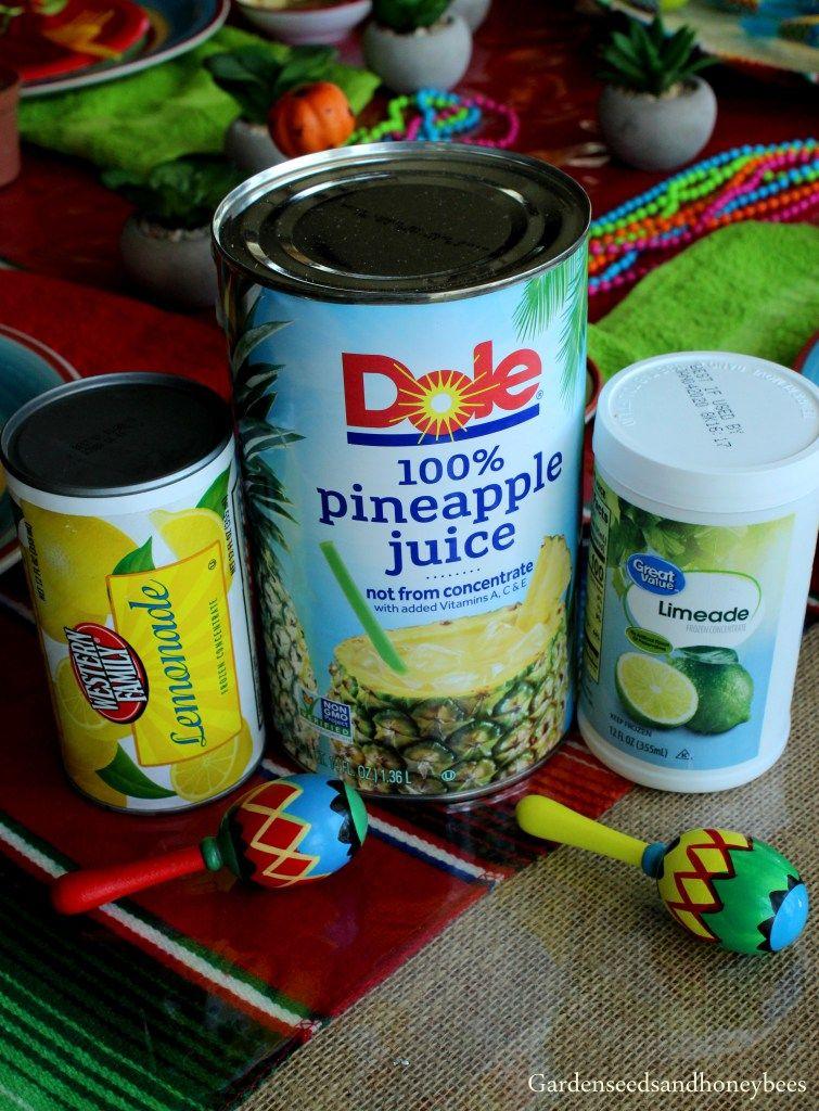 Pineapple Lemonade Slush - Garden Seeds and Honey Bees #pineapplelemonade