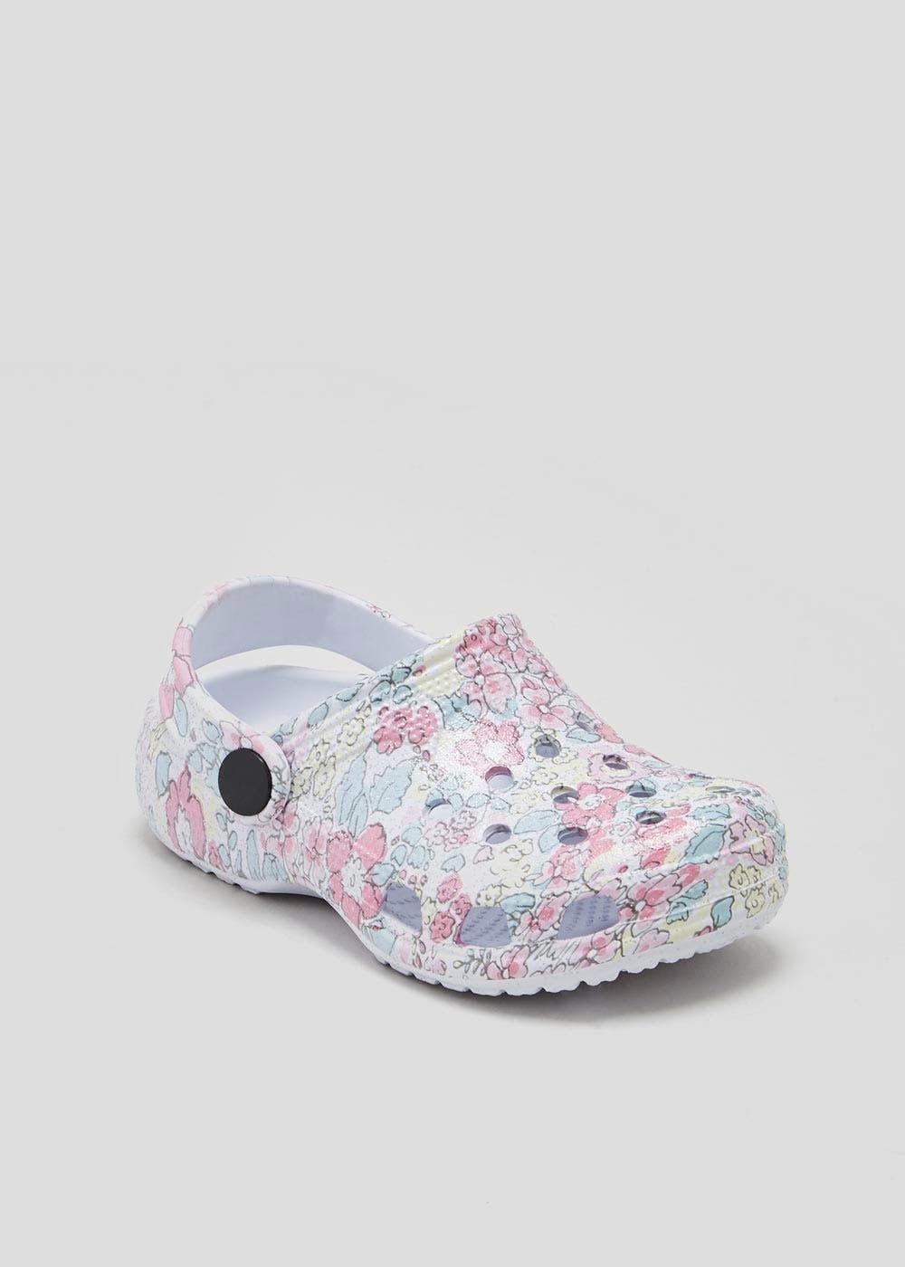 3641d3ecd04 Girls Floral Slip On Clog Sandals (Younger 4-12) – Pastel Pink –