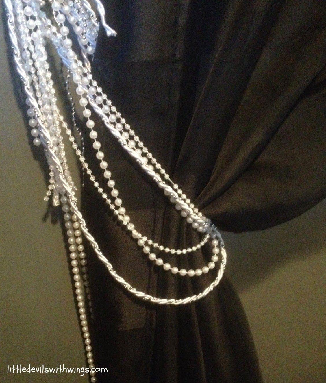 Diy Beaded Curtain Tie Backs Beaded Curtains Curtain