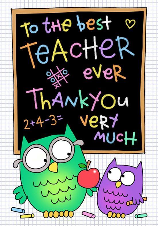 thank you teacher  teacher appreciation cards preschool
