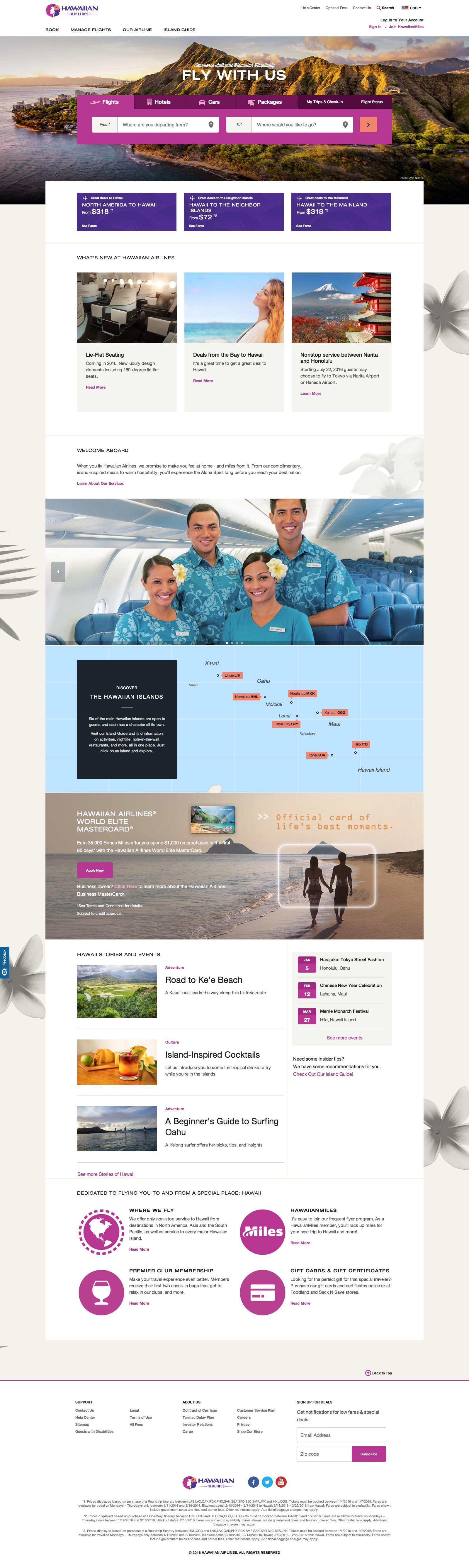 Hawaiian Airlines Website Design Website Travel Bestinclass Website Design Travel Website Design Travel Design