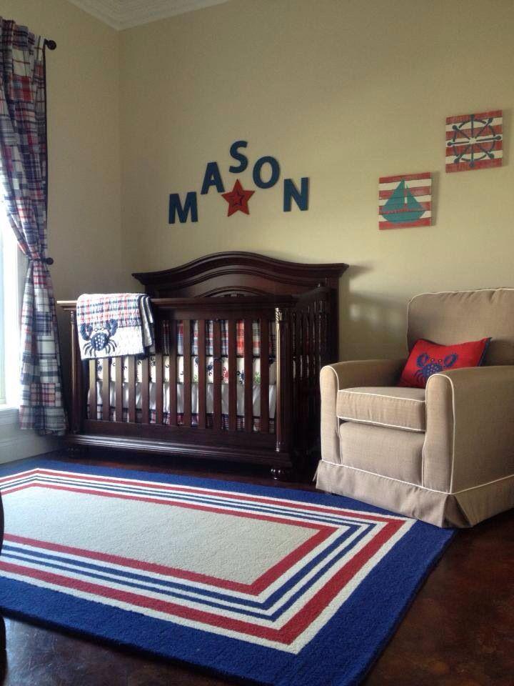 Nautical Baby Boy Nursery Room Ideas: My Little Baby Boy's Nautical Themed Nursery/bedroom