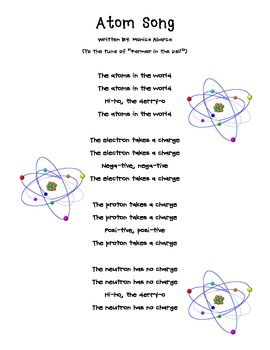 free this is a cute song i sing with my class to help them remember the parts of an atoms and the differences between protons neutrons and electrons